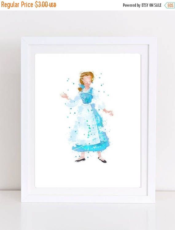 70%OFF Beauty And the Beast Belle Poster Watercolor Belle Blue