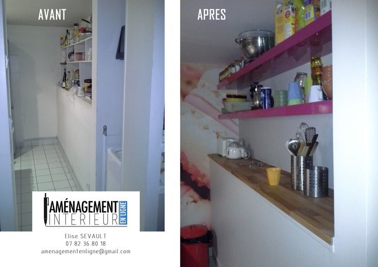 avant / après #cuisine #decoration https://www.facebook.com/amenagement.interieurenligne http://www.amenagement-interieur-en-ligne.com/