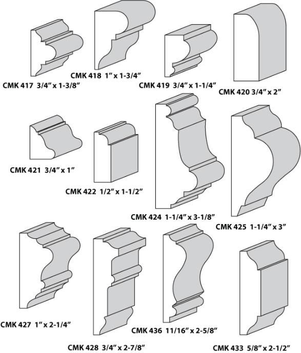 Custom Molding Knives Panel Mouldings Base Caps Panel Moulding Molding Chair Rail