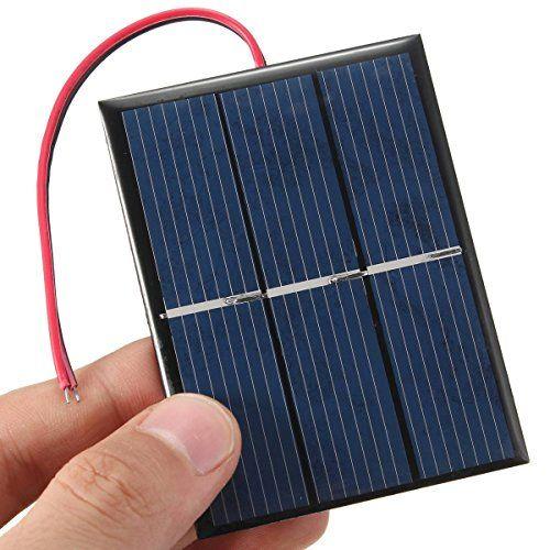 CAMTOA® 0.65W 1.5V Panneau solaire petit module cellule PV pour kits solaires bricolage