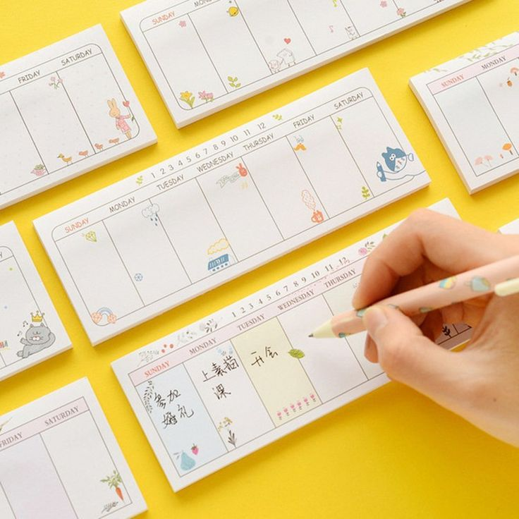 Korean Stationery kawaii sticky notes Weekly Planner stickers memo pad Decoration post it Christmas gifts office school supplies(China (Mainland))