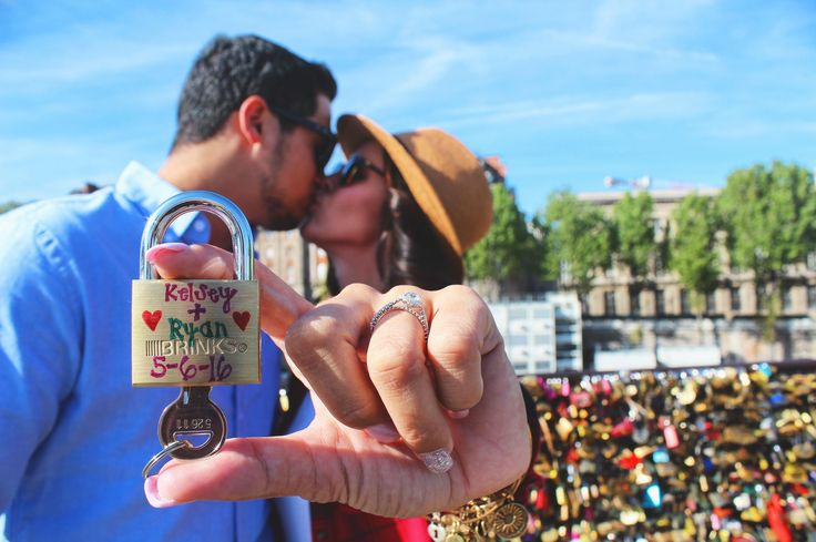 Check out @kstrayer8 and her vlog from France & more with Gate 1 Travel! There's a surprise - hint: it includes a shiny rock! This photo from Kelsey at the love lock bridge in Paris