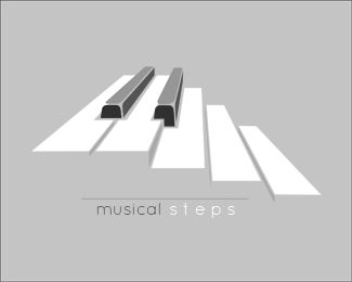 I love how they incorporated the idea of music and steps by making the piano into steps.