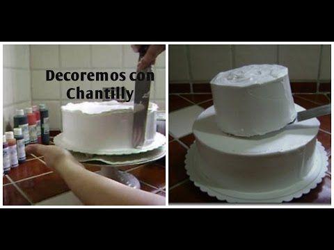 Como Rellenar, Cubrir y Montar Un Pastel Muy Sencillo Con Chantilly - YouTube