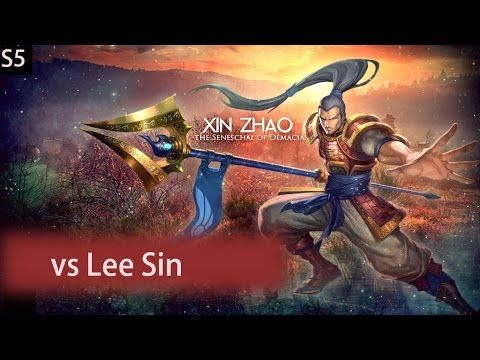 Xin Zhao versus Lee Sin in the opposite teams jungle. Gold division Ranked game :D