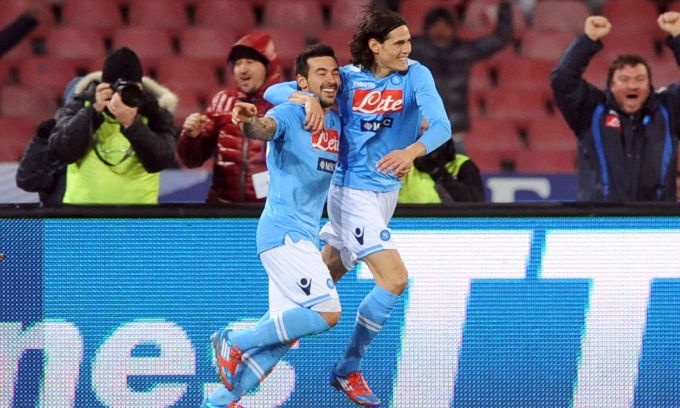 Napoli 1 Inter 0  Ezequiel Lavezzi Goal
