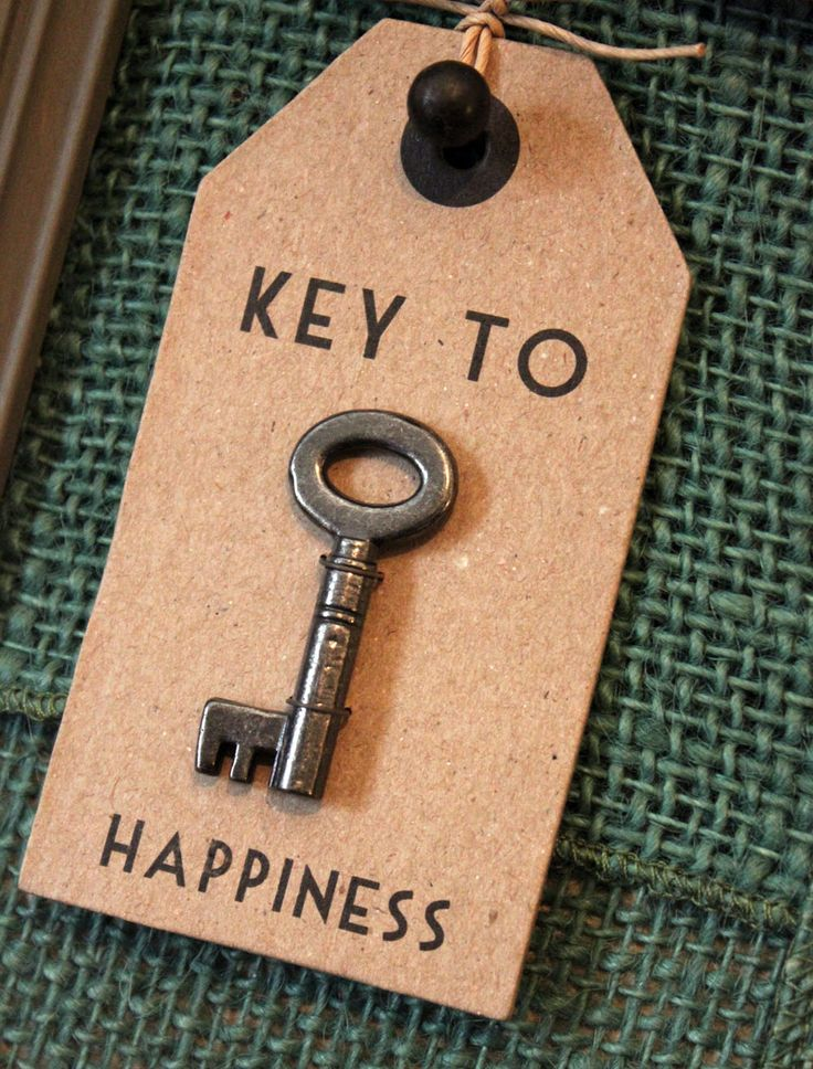 Could say: Key to Happiness or my Heart (and hotel room key)