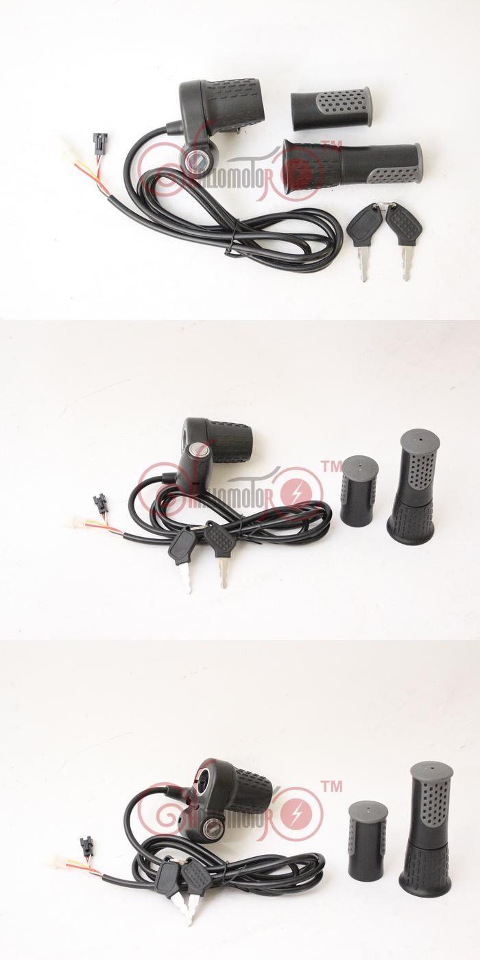 [Visit to Buy] ConhisMotor 24/38/48/60/72V eBike Twist Throttle Speed Handlebar NO BATTERY INDICATOR Half Bar Accelerator Electric Lock #Advertisement