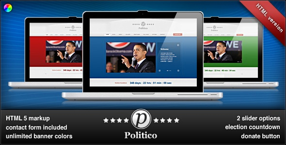 Politico HTML Campaign & Business Template
