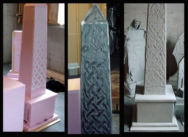 Image result for tombstone with insulation sheets
