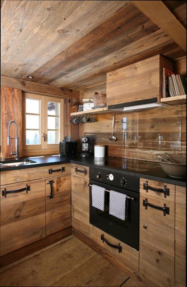 Cuisine Bois Style Montagne | meilleurs decorateurs | Cuisine bois ...