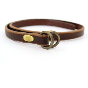 Kika NY Leather Bracelet Double O Ring