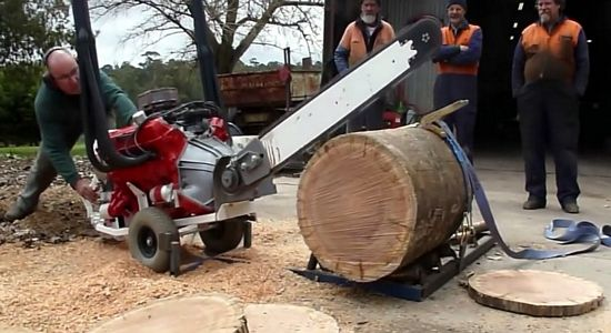 Australian V8 Chainsaw - This may be the only chainsaw you'll ever need! Oh, you have a two-stroke chainsaw huh? Think it's cool, do ya? Well, we see your little two-stroke and raise you a 4.1-liter V8 chainsaw. This V8 chainsaw comes to us, of course, from Australia. It's a nation where absolutely everything can kill you. Granted, any [...]