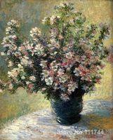 Arte regalo Jarrón de Flores de Claude Monet pinturas al óleo Hecha A Mano de Alta Calidad