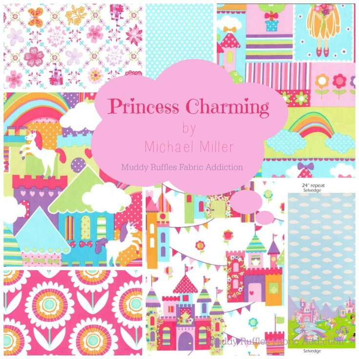 PRINCESS CHARMING by Michael Miller  $13.00 per Metre!  http://muddyruffles.com.au/category_234/-Princess-Charming-by-Michael-Miller--SALE--13.00.htm