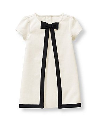 Baby Girl Ivory Tipped Ponte Dress at JanieandJack