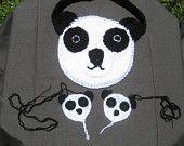 Crochet Panda purse and bare foot sandal set.