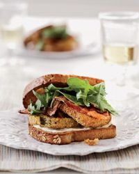 Fried Green Tomato BLTs.  I made these when we had green tomatoes in our garden. BEST BLT EVER!