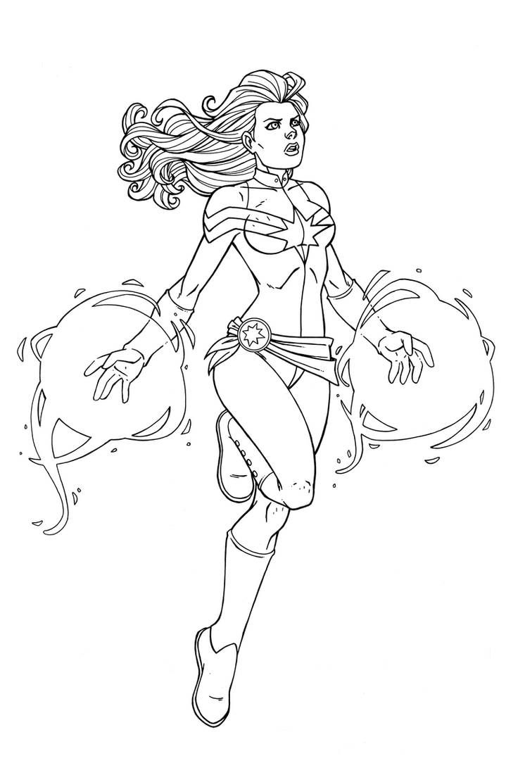 Coloriage Captain Marvel