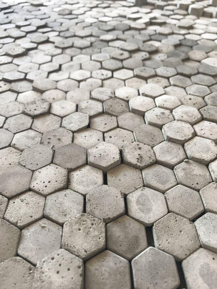 concrete|hexagon