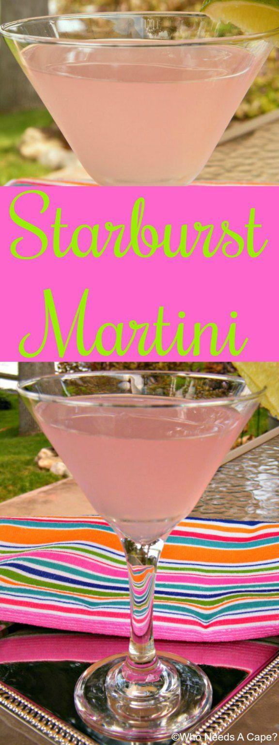 Starburst Martini (1 oz Pinnacle Whipped Vodka 3 oz raspberry lemonade 4 oz citrus soda)