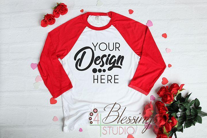 Download Valentine Raglan Shirt Mockup Bella Canvas 3200 Baseball 181406 Clothing Design Bundles Shirt Mockup Clothing Mockup Raglan Shirts