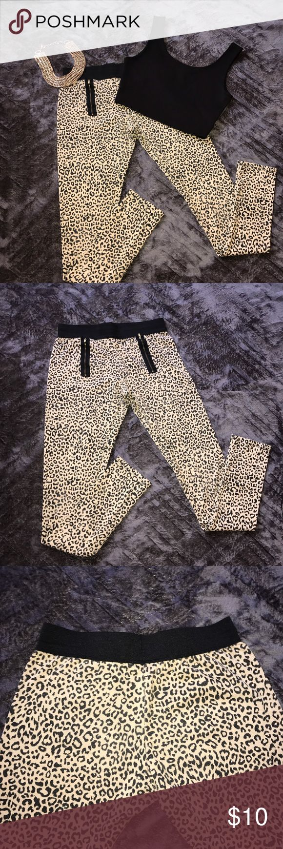 Cheetah Leggings •Zipper are for fashion •Gently worn •Bundle to save<3 Pants Leggings