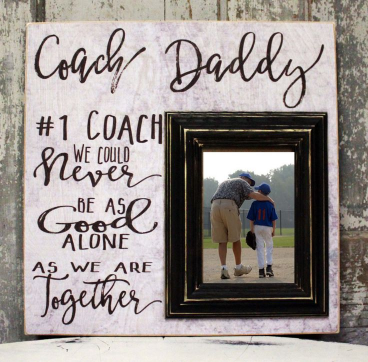 Coach Dad Picture Frame Gift, #1 Dad Gift, #1 Coach Custom Picture Frame, Father Gift, Fathers Day Gift, Father Thank you, Birthday, 16 x 16 by MadiKayDesigns on Etsy