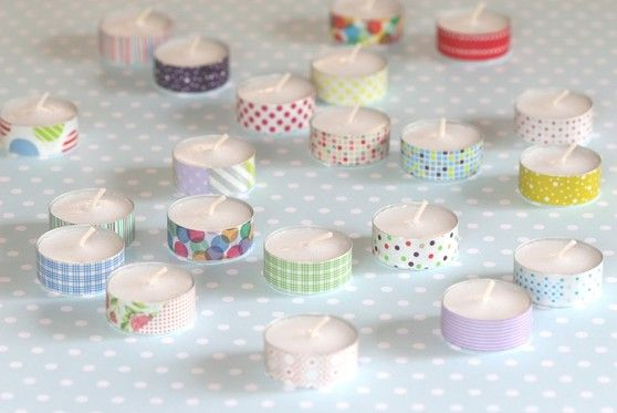 litlle candles become beautifull with masking tape