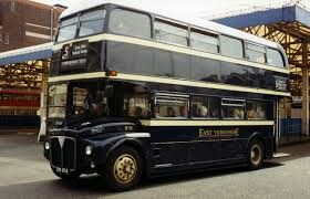 A old Route master bus in the old Bus station in Hull route 56 I think