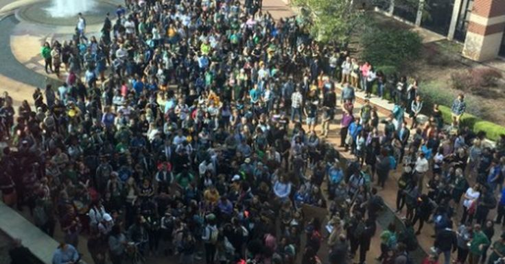 Students escort girl to class after she reports racial harassment on campus -       Nearly 300 students showed up to escort Baylor University student Natasha Nkhama to class on Wednesday after she reported being pushed and calle...