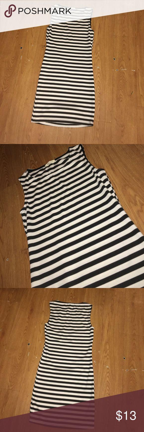 Black and White Striped Bodycon Dress black and white striped Bodycon dress Tea n Rose Dresses Mini