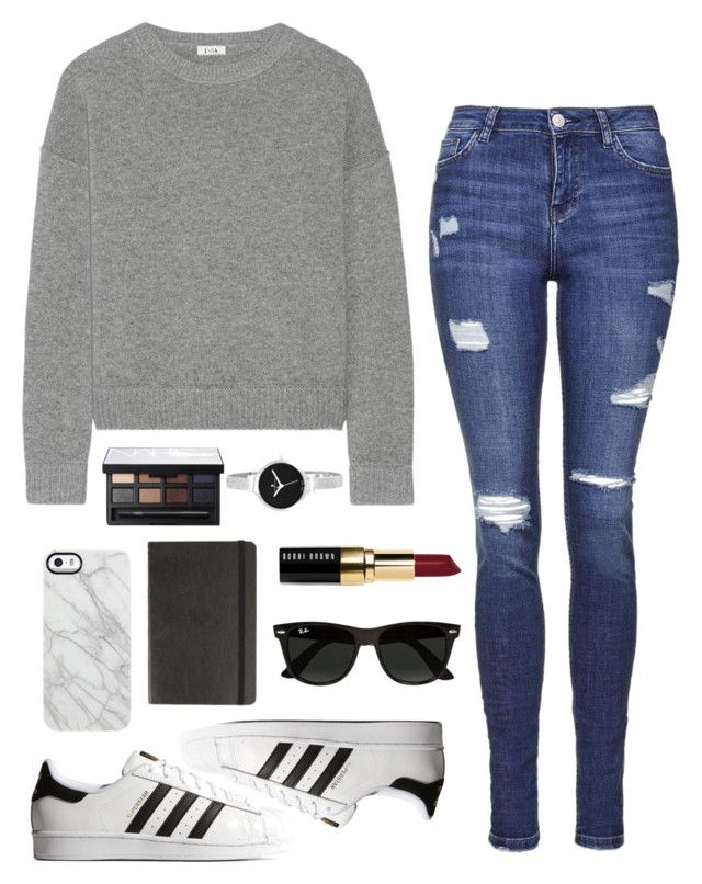 """Untitled #150"" by rachelallegra ❤ liked on Polyvore featuring Issa, Topshop, adidas Originals, Bobbi Brown Cosmetics, Ray-Ban, Christian Van Sant, Uncommon, Moleskine and NARS Cosmetics"