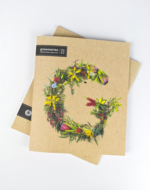 Beautiful floral G typography