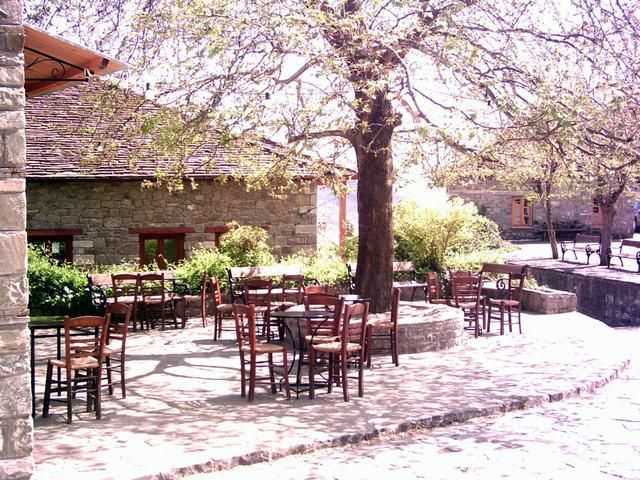 Traditional cafe in Pyrsogianni village-Konitsa,Epirus) Greece