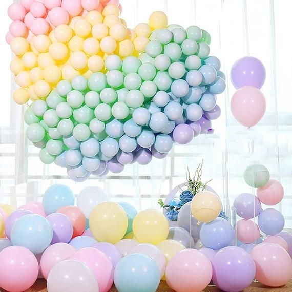 Big Balloons Party Decoration Matte PASTEL Latex Balloons 5 Inch 24 Green Helium Round Yellow Blue Lilac Pink 11 36