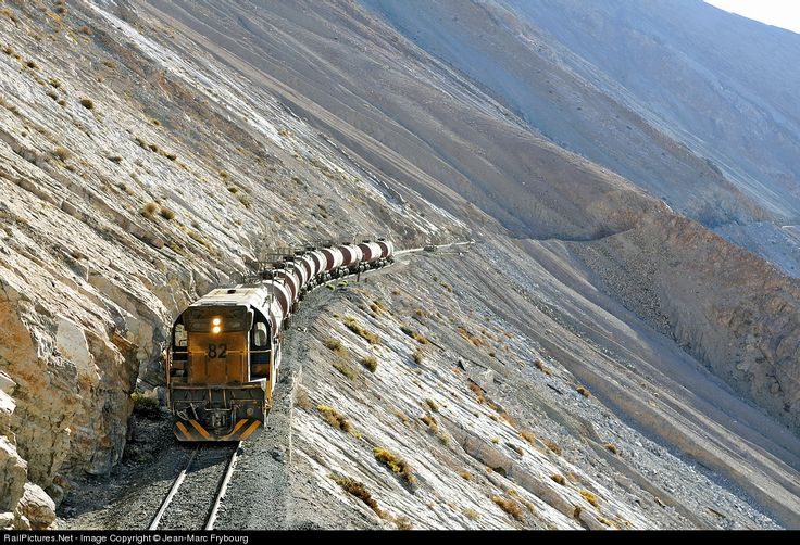 RailPictures.Net Photo: Ferronor 82 Ferronor Chile EMD G12 at Potrerillos, Chile by Jean-Marc Frybourg