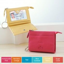 $30.00 Bridesmaid Gifts The Small Wallet with Fob is a practical and efficient way to keep your personal belongings and essential identification organized.