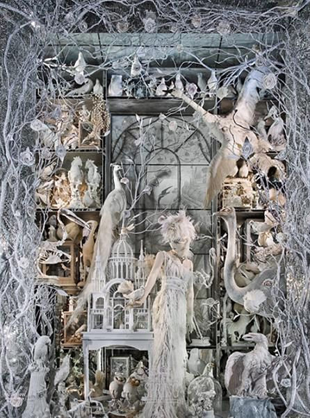 Bergdorf Goodman holiday window - a perfect homage to the Winter Lady