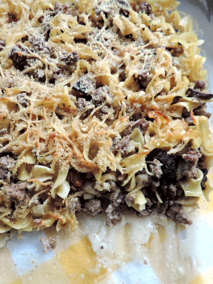 Parmesan Beef Stroganoff Casserole