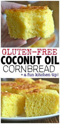 Coconut Oil Cornbread
