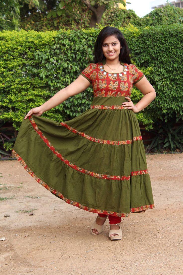 Stand Neck Blouse Designs : Kalamkari sequence border saree in