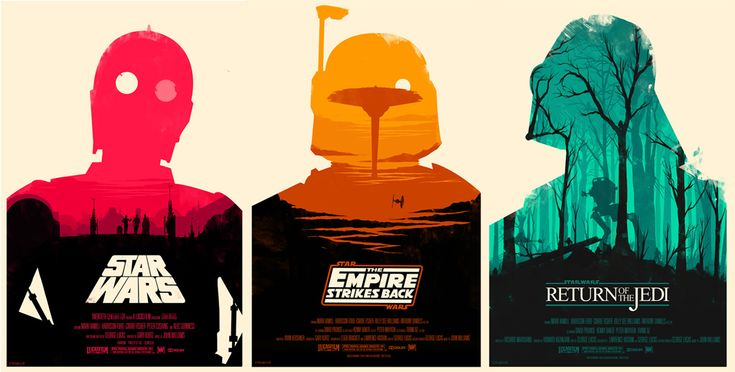 Re-imagined Star Wars trilogy posters
