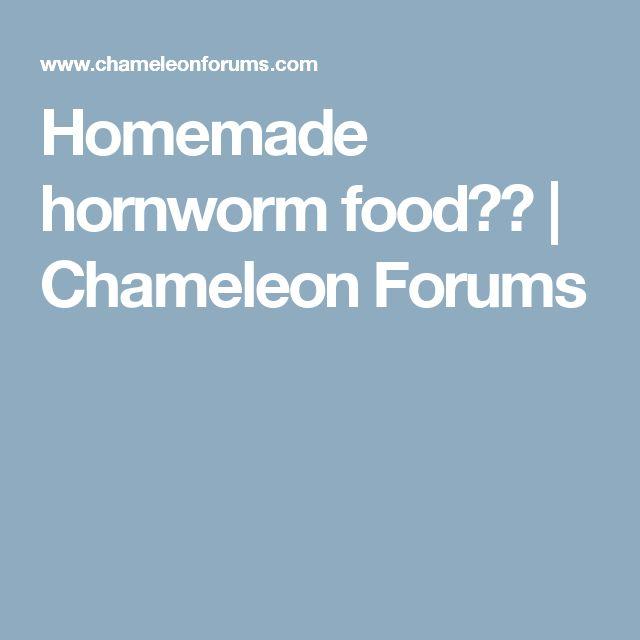 Homemade hornworm food?? | Chameleon Forums