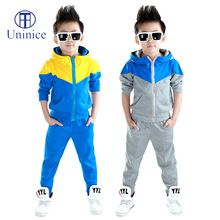 Clothes boys 2016 new arrival baby boys hoodied coats and jackets +pants sets…