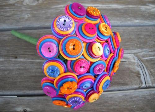 Ramo de novia de botones de Kottonkandy52's Etsy Shop