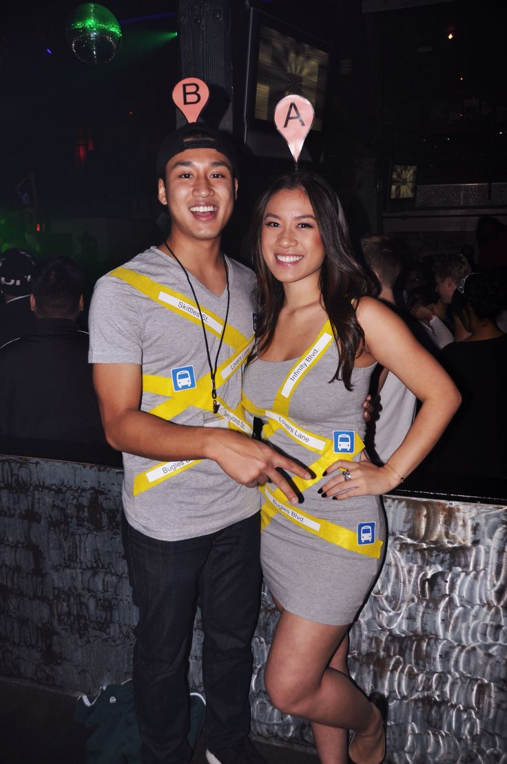 Google Maps couples costume! First to ever be done this way :)