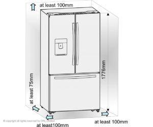 Double Door Refrigerator Width