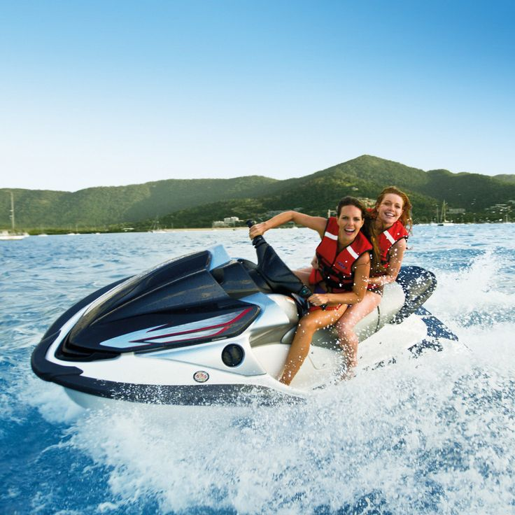 Get revved up and ride your very own Sea-Doo on a jet ski tour from Airlie Beach to the Whitsunday Islands. #whitsunday #jetski
