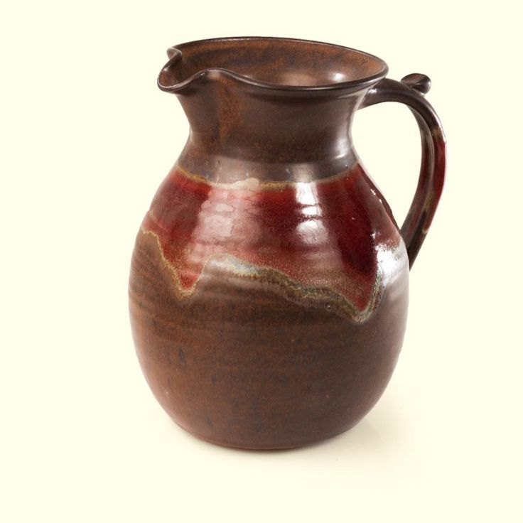 Mediterranean Pitcher | Chocolate Red River glaze